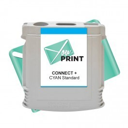 Cartouche Pitney Bowes ® Connect+ compatible CYAN